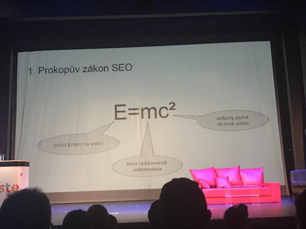 1. Prokopův zákon na SEO Restart 2019