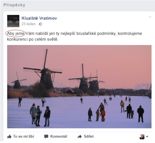 Aby jsme - český pravopis