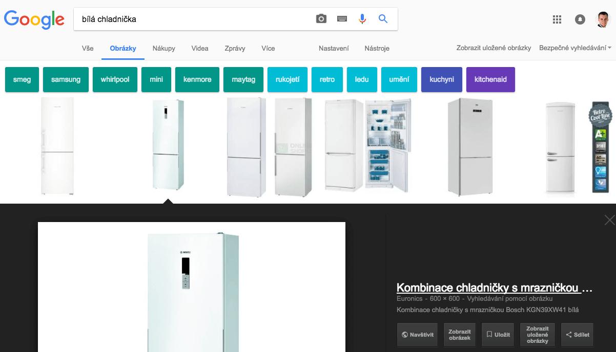 Bílá chladnička - výsledek obrázkového Google hledání