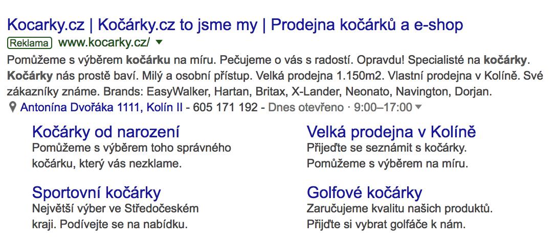 PPC reklama kocarky.cz