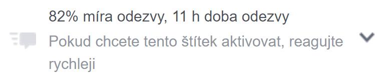 Míra odezvy na FB