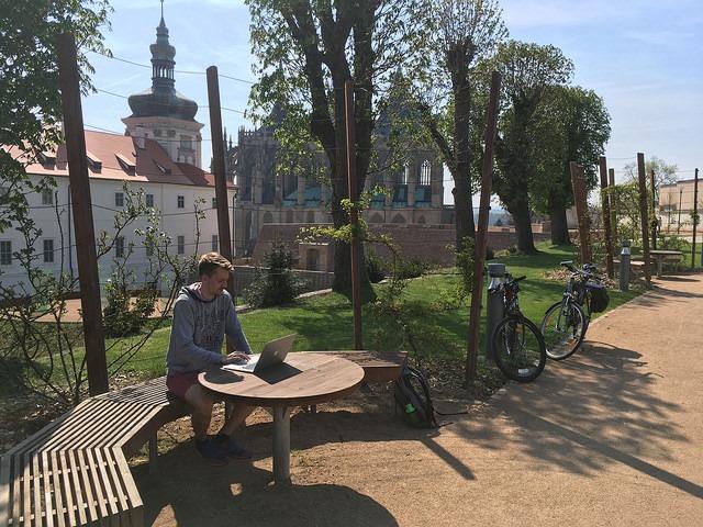Práce u chrámu sv. Barbory - Kutná Hora