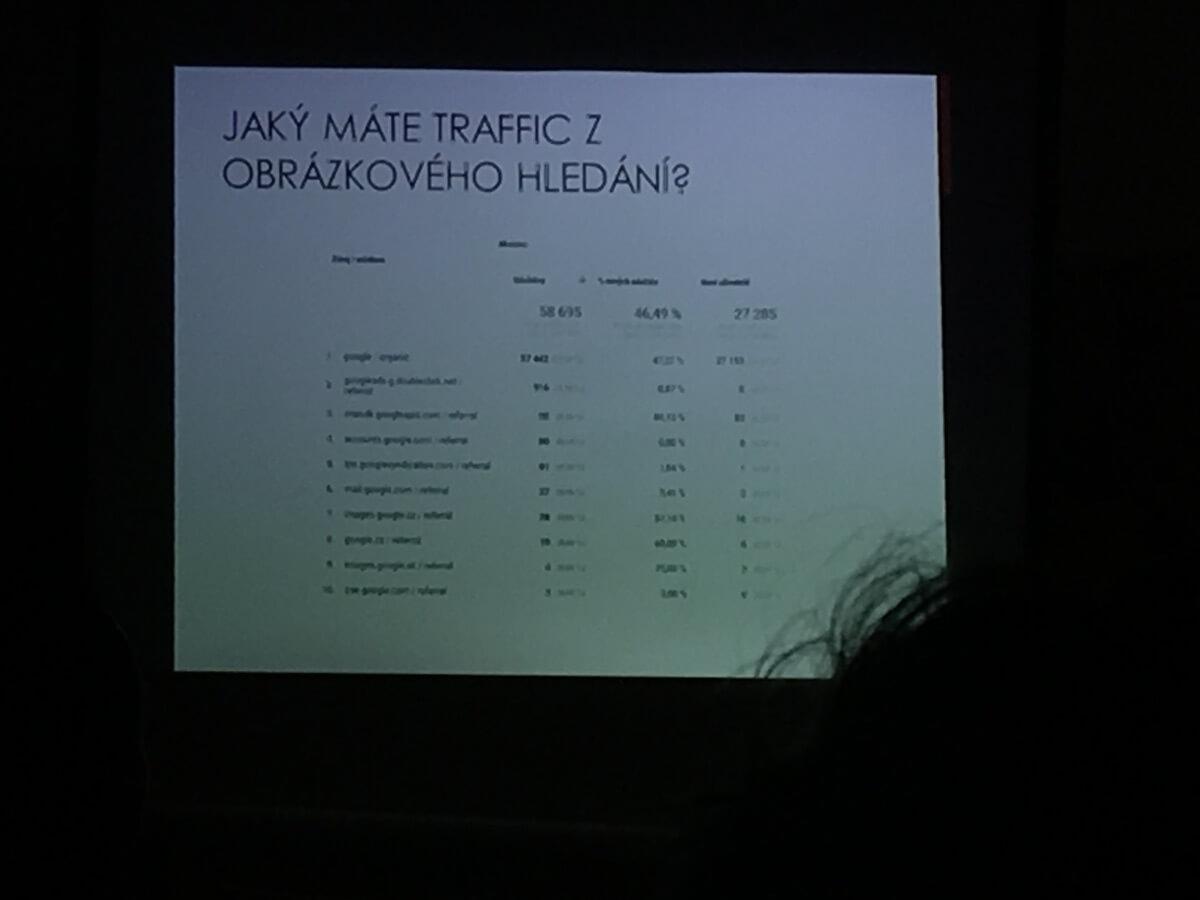 Traffic z obrázkového hledání - slide z přednášky Vladimíra Saura